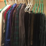 My dress clothes hanging in my closet
